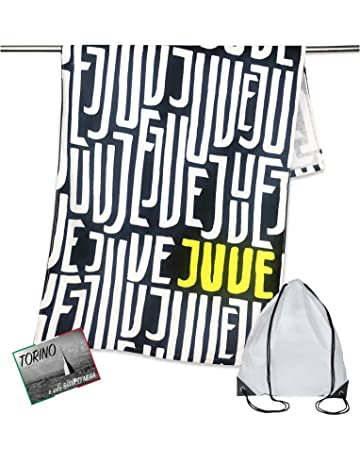 tex family - Toalla de Playa Deportiva, diseño con Texto Juventus, tamaño 70 x