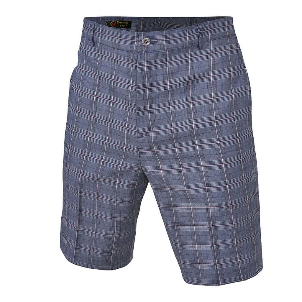 Monterey ClubメンズPlaid Madras Shorts # 1848 B06XB5PDM1 Size:38|Ivory/Cotton Candy Ivory/Cotton Candy Size:38