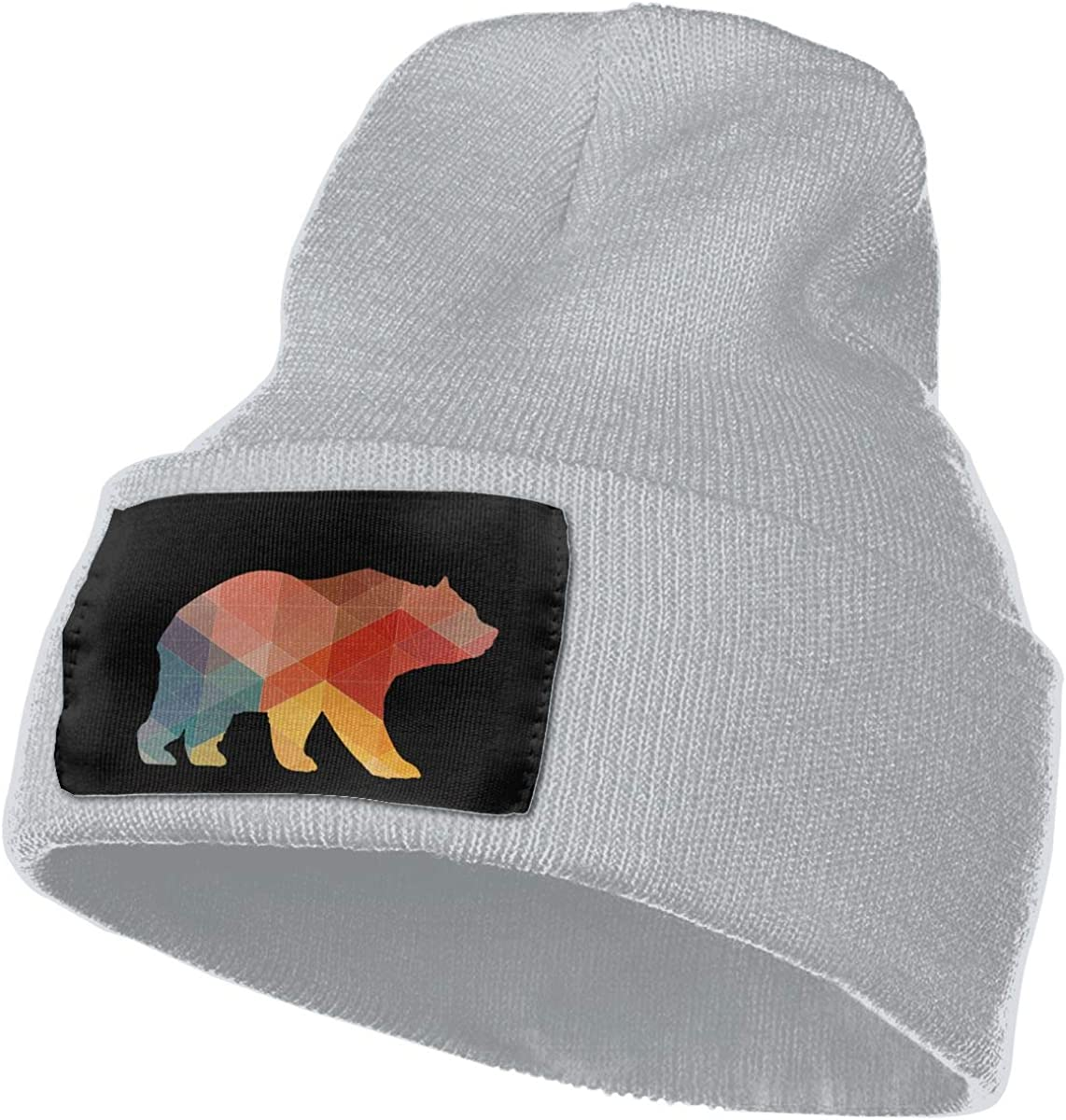 WHOO93@Y Mens and Womens 100/% Acrylic Knit Hat Cap Geometric Bear Fashion Ski Cap