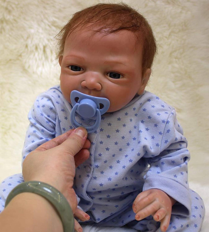 antboat Bebés Reborns Muñeca 20 Pulgadas Muñeca Reborn Bebé Niño 50 cm Silicona Suave Niño de Muñecos Vida Real Natural Regalos de Cumpleanos Juguetes de los Niños