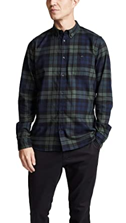 b7ca788cc8 Norse Projects Men's Anton Flannel Check Shirt, Blackwatch, X-Large ...