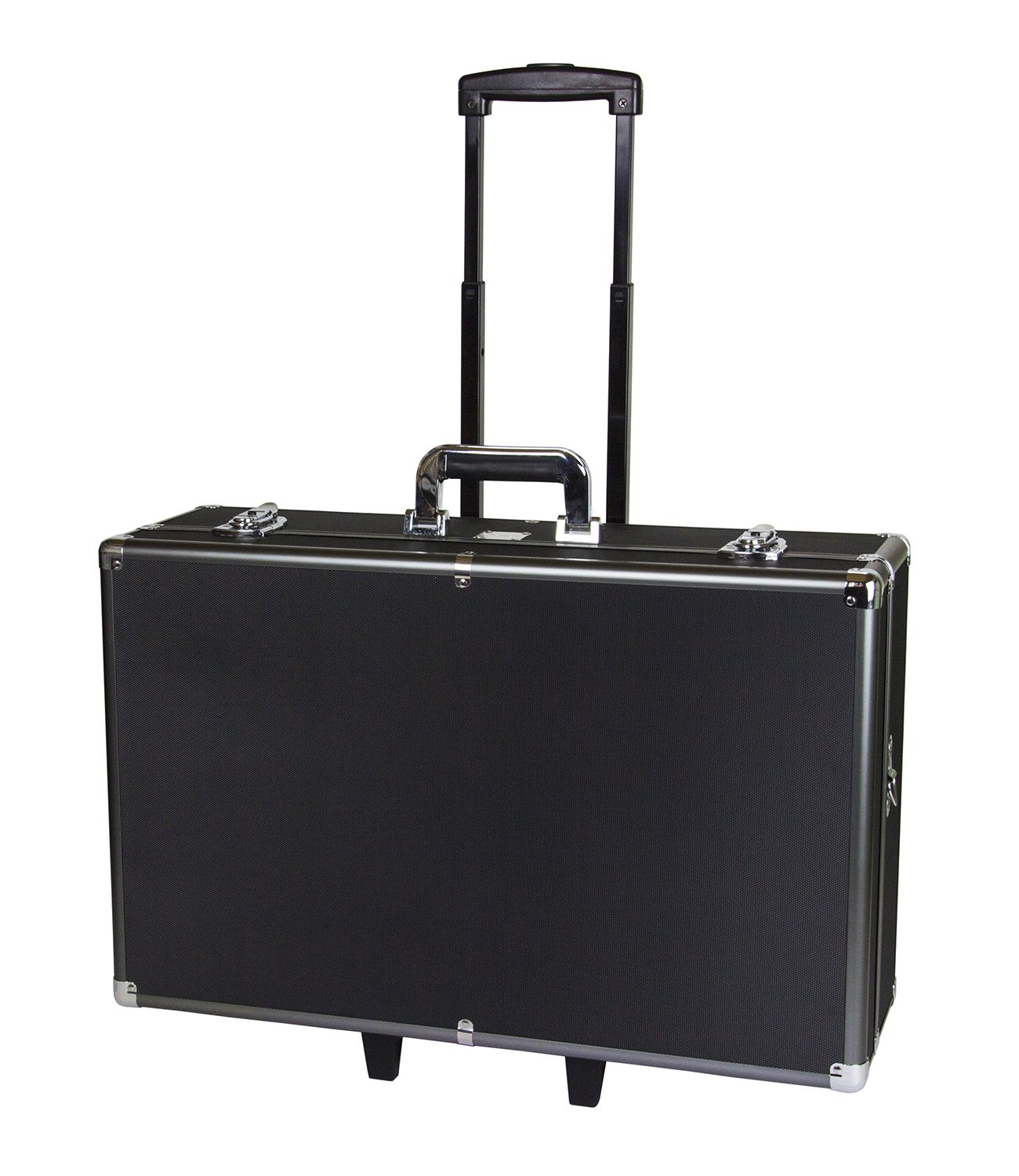 Professional Series Metal Frame Customizable Large Hard Case with Locks, Carrying Handle and Wheels for High Impact Absorption - Photographic Equipment