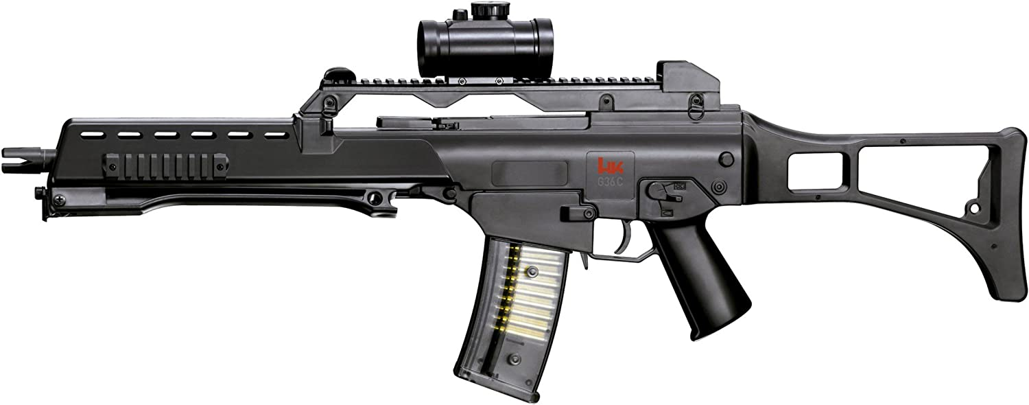 Heckler & Koch Softair Federdruck MAX. 0.5 Joule G36 Sniper Rifle Airsoft, Unisex Adulto, Negro, Talla única: Amazon.es: Deportes y aire libre