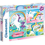 Clementoni Super Color Puzzle I Believe In Unicorns, Multi-Colour, 3 x 48 Pieces
