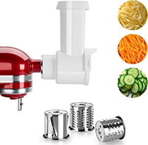 Slicer Shredder Attachments for KitchenAid Stand Mixer, Electric Cheese Grater Salad Chopper, Accessories for All Household KitchenAid by SAMYERLEN, Fits Cuisinart Stand Mixer SM-50 / SM-50BC / SM-50R