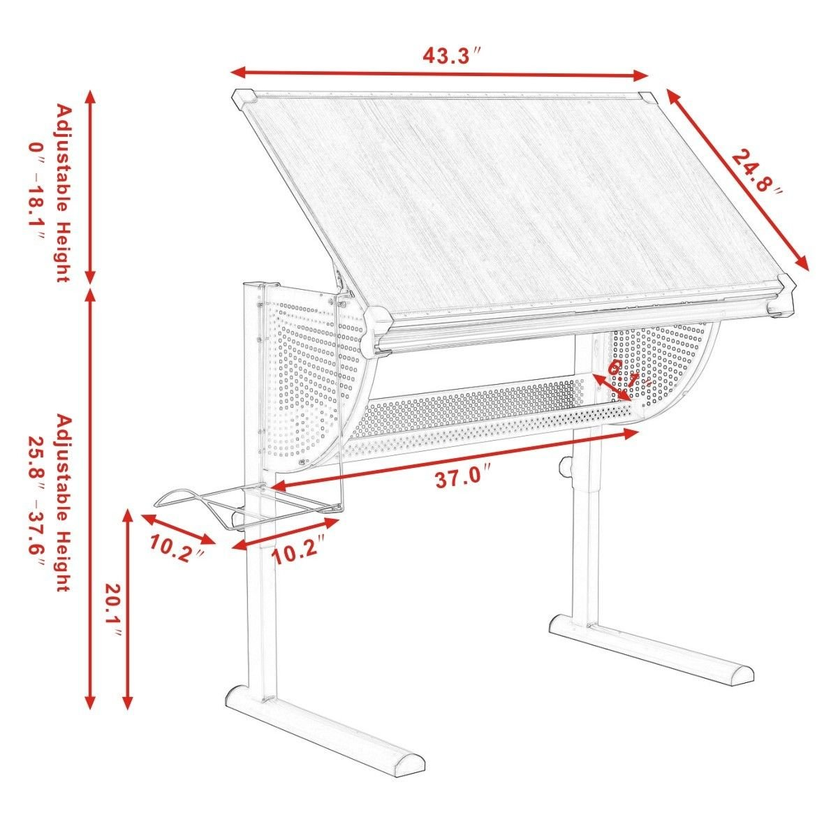 Drafting table dimensions images for Standard blueprint size