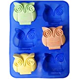 Chawoorim 6 Owls Silicone Cake Bread Chocolate Jelly Candy Baking Mould Craft Mold