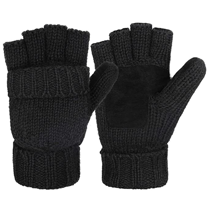 Fashion Black Short Half Finger Fingerless Wool Knit Wrist Glove Winter Warm Gloves Workout For Women And Men Back To Search Resultsapparel Accessories