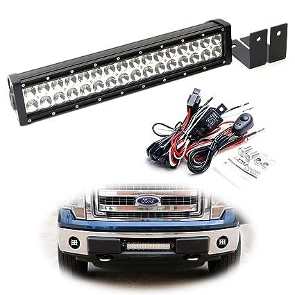 Ijdmtoy Lower Bumper Led Light Bar Kit For   Ford F  Or
