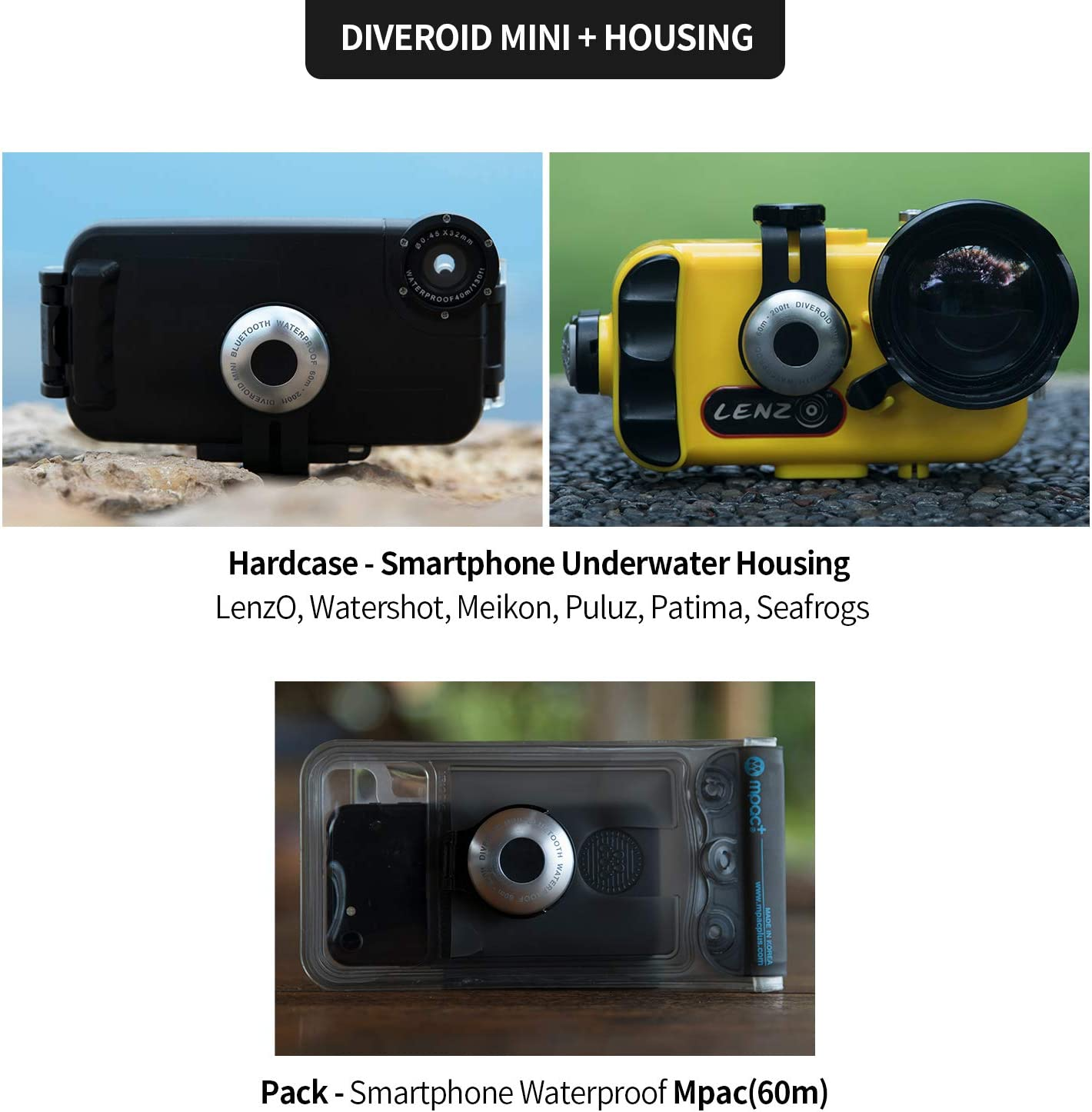 logbook Camera and More! DIVEROID Mini Turn Your Smartphone into a Dive Computer