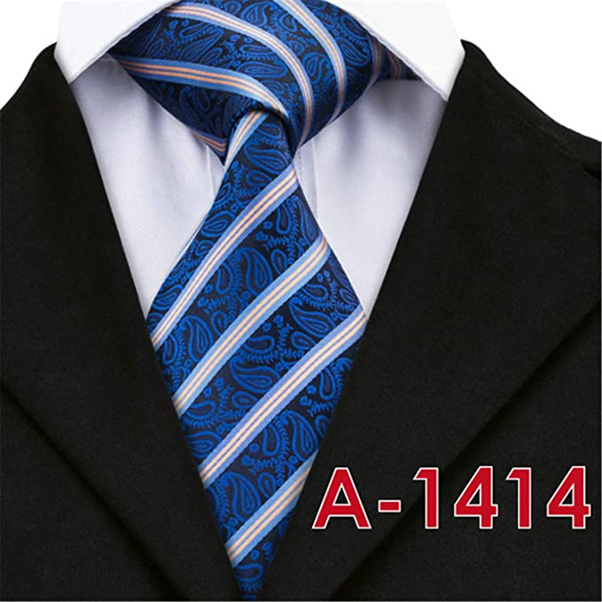 afb7066999aa Thadensama 2018 New Silk Mens Ties Neck Tie 20 Style Striped Ties For Men  Business Wedding
