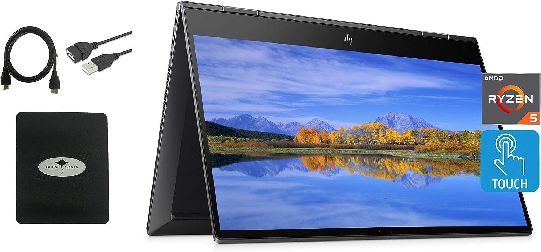 Newest HP Envy X360 2in1 Laptop, 15.6'' FHD Touchscreen, AMD Ryzen 5 4500U(Beat i7-7500U), 16GB RAM, 512GB SSD, Backlit Keyboard, Fingerprint, Fast Charge, Webcam, Win10, w/Ghost Manta Accessories