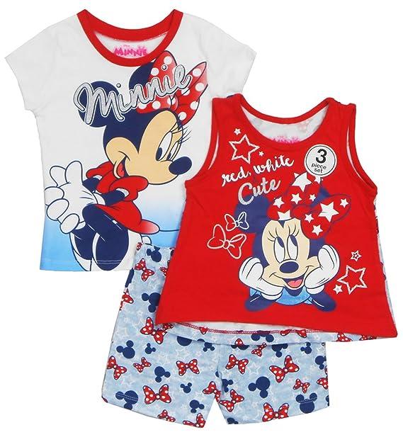 Amazon.com: Disney bebé niña Minnie Mouse rojo y blanco y ...