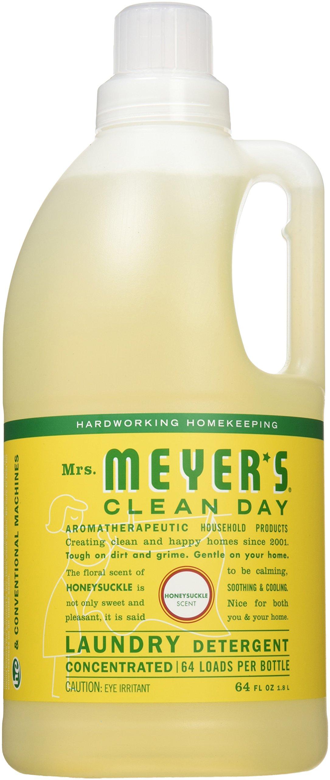 Mrs. Meyer's Clean Day Laundry Detergent, Honeysuckle, 64 fl oz