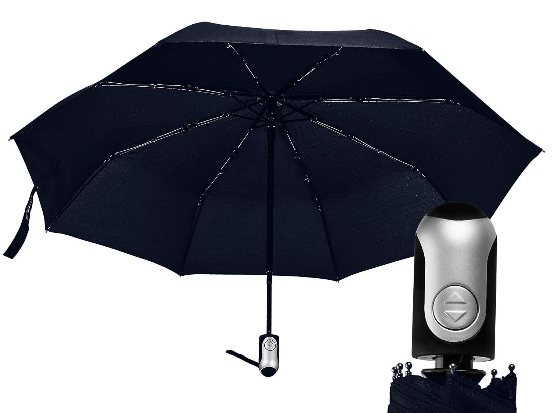 cac592fe15cf Amazon.com: Small Windproof Travel Umbrella – Navy Blue Automatic ...