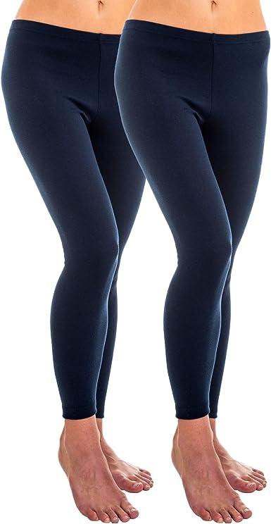 HERMKO 1720 2 leggings de mujer 100% algodón orgánico: Amazon.es ...
