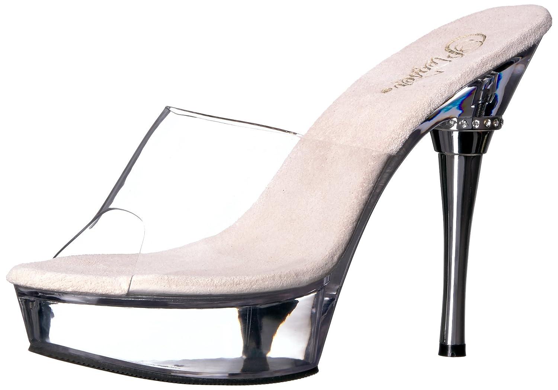 Pleaser Allure-601 - Zapatos de Plataforma Mujer 43 EU|Noir/Transparent
