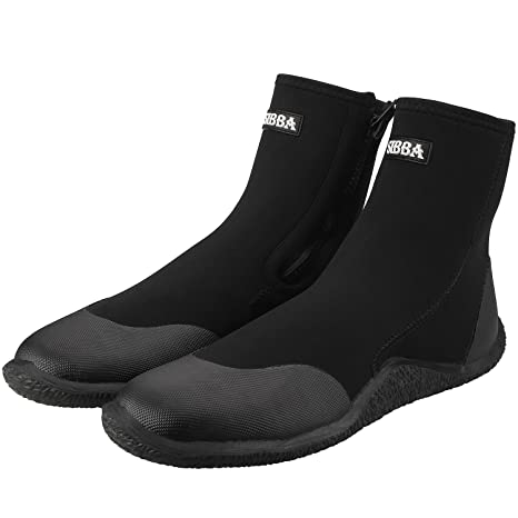 024e662e23e6 Image Unavailable. Image not available for. Color  Sibba Unisex 5mm Premium  Neoprene Hi Top Wetsuits Zipper Boot Diving Boots Water Sports ...