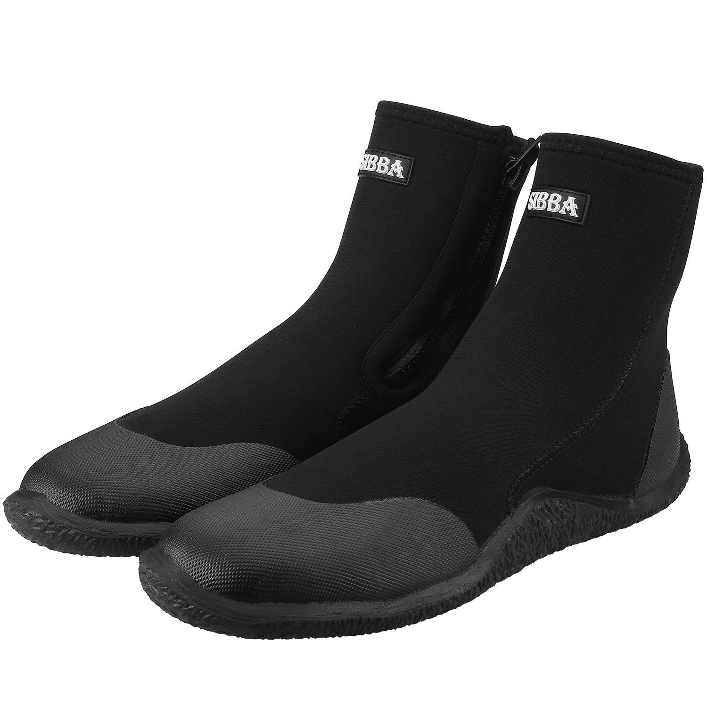 5mm Premium Neoprene Zipper Diving Boots Hi Top Water Sports Shoes For Women and Men