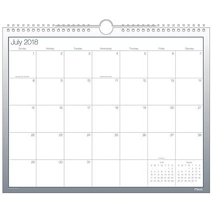 amazon com mead 2018 2019 academic year wall calendar medium 14