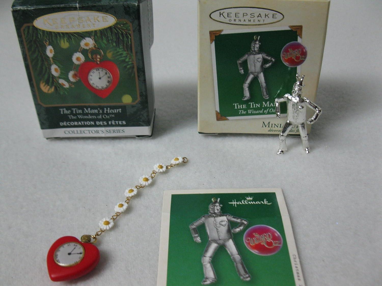 Mago de Oz en miniatura Hombre de Hojalata y estaño Mans Hallmark en forma de corazón Ornaments2 diseño de Group: Amazon.es: Hogar