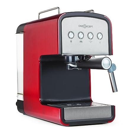 Oneconcept Solari Máquina cafetera Espresso (850 W, 15 Bar, Boquilla de Vapor para espumar Leche, portafiltro de Acero Inoxidable, 1-2 Tazas de café ...