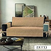 Petti, Artigiani Italiani - Copridivano (Misura) (Colore), 100% Made in Italy, con elastici e tasche laterali