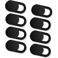 VGUARD [8 Unidades] Cubierta Webcam, Webcam Cover Slider Diseño Ultra Fino Camera Cover Tapa Webcam para Todo Tipo de Ordenadores Portátiles, Tabletas y Móviles Inteligentes - (Negro)