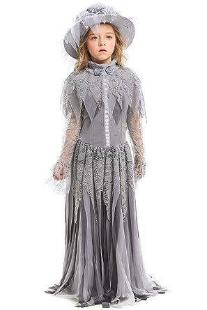 Joyplay Vestido de Encaje con diseño de Calavera para Disfraz ...
