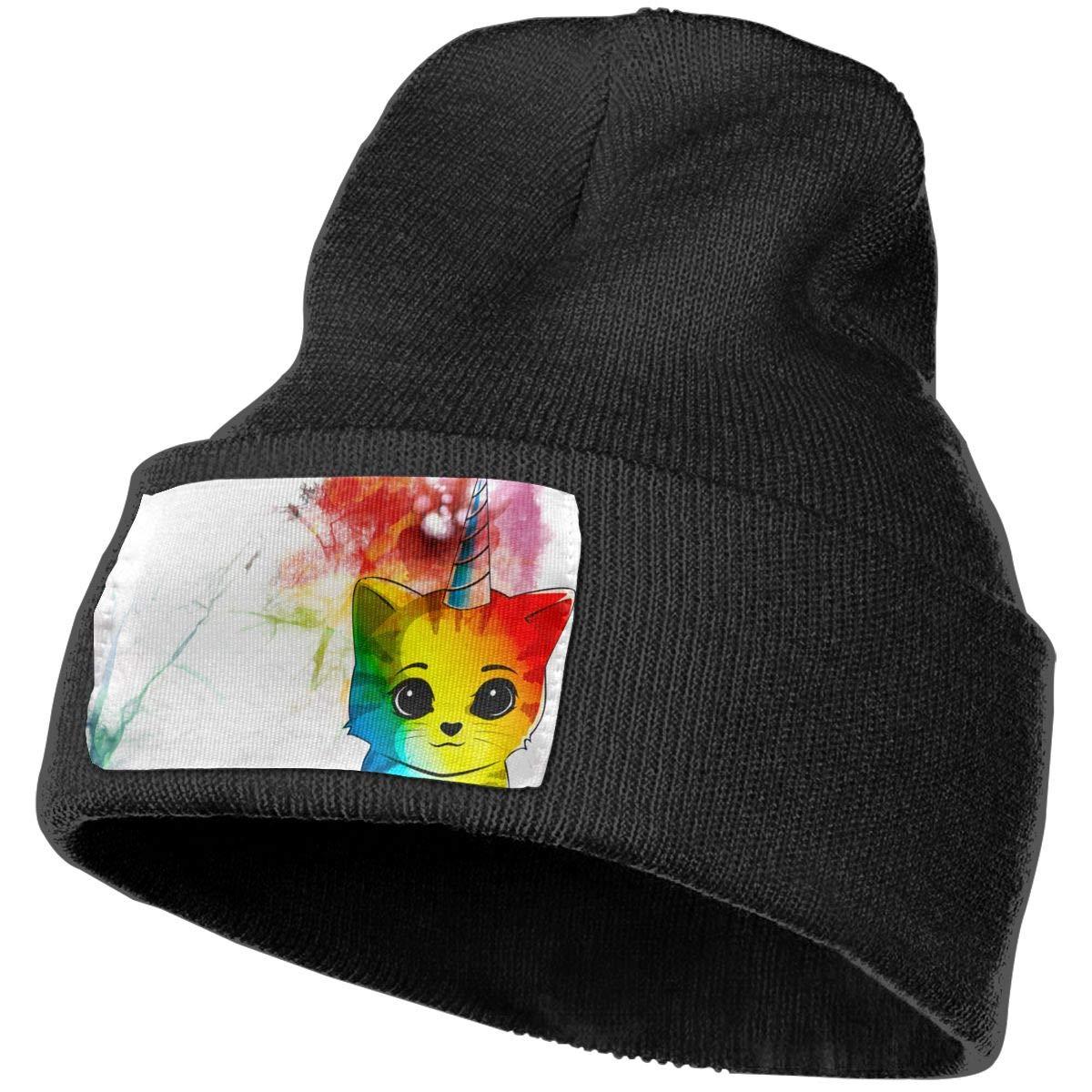 Horizon-t Cats and Flowers Unisex 100/% Acrylic Knitting Hat Cap Fashion Beanie Hat