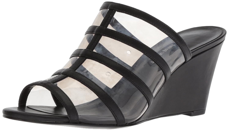 Nine West Women's Jesty Synthetic Wedge Sandal B076HM2YHC 7 B(M) US|Dark Grey