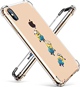 "Allsky Case for iPhone Xs Max 6.5"",Clear Cartoon Design Pattern Soft Cute Fun Ultra-Thin Cover,Kawaii Kids Girls Animal Skin Creative Shockproof Funny Piglet.Cases for iPhoneXS Max 6.5"" Yellow Man"