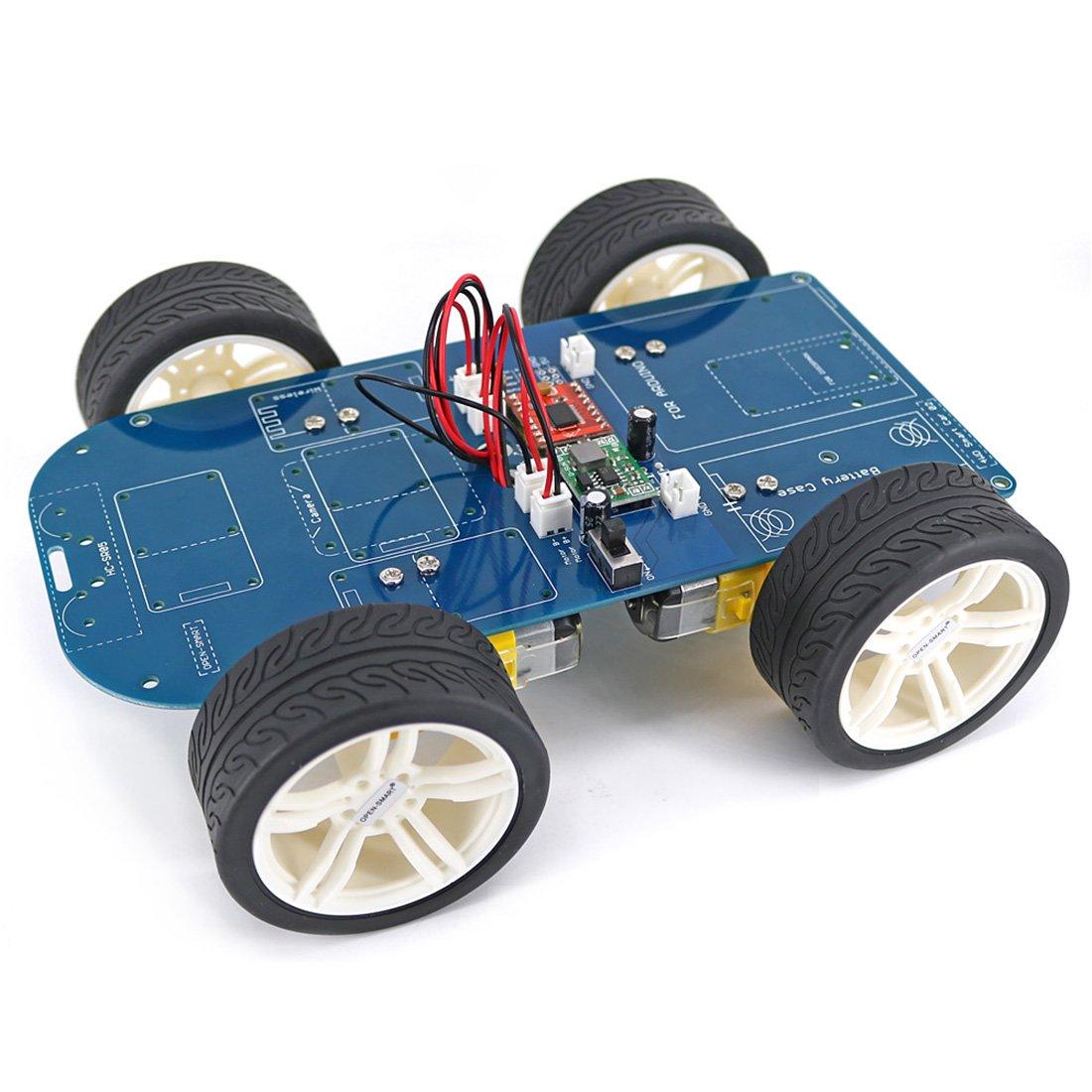 Mecotech Tracci/ón a Las Cuatro Ruedas Bluetooth Inteligente Chasis Kit Motor de Engranajes UNO R3 Nano Suite Elegante Debajo Para Arduino
