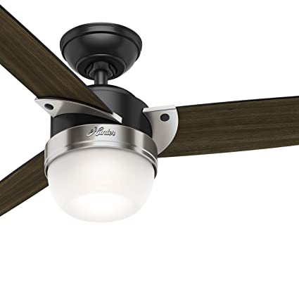 48 inch fan large hunter fan 48 inch modern matte black indoor ceiling with light kit and remote control