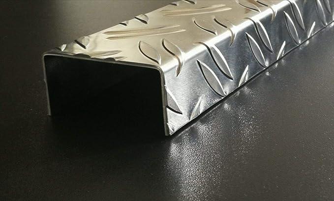 1500mm Aluminium U-Profil 15x100x15mm Abdeckprofil aus Aluminium Riffelblech Diamant Kantblech aus aluminium Riffelblech Tr/änenblech