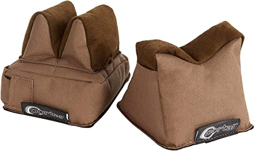 PORTAL Gun Shooting Rest Bag - Filled Front & Rear Stand Holders Combo for Rifle or Pistol, Brown