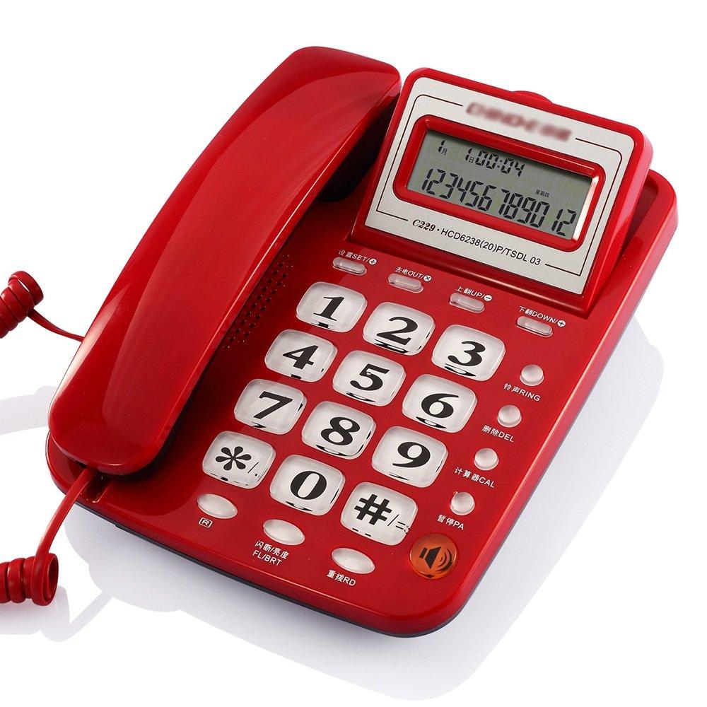 Festnetz Festnetz Festnetz Telefon Telefon Hotelzimmer Telefon Telefon gewidmet Telefon. Größe: 210  165 (mm). Farbe: blau, rot, weiß (Farbe : Weiß) 1d68e1