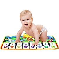 Piano Musical Mat,Giant Educational Pre-Kindergarten Toys,15 Keys Keyboard Floor Mat 28inch 11.5inch--No Volume Control
