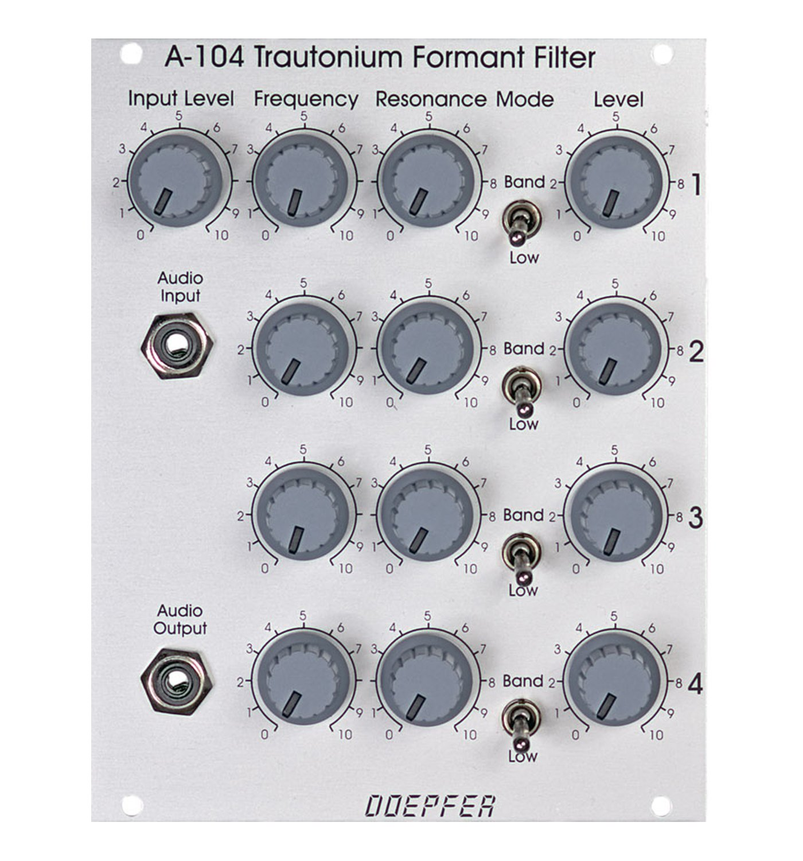 Doepfer トラトニウムタイプ フォルマントフィルター A-104 Trautonium Type モジュラー VCF Formant/ VCF Formant Filter ユーロラック モジュラー シンセサイザー B00QGI2S1E, grand A(グランエー):7cbeac6a --- verkokajak.se