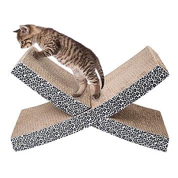 Paneles rascadores con estampado animal para que los gatos jueguen: Amazon.es: Productos para mascotas