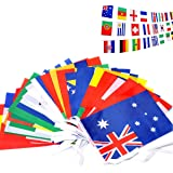 "ASYBHYY International Flags, Russia 2018 FIFA World Cup String Flag Banner 32 PCS Countries Flag Bunting 29.6 Feet 8"" x 12"" for Bar Home Party Decorations"