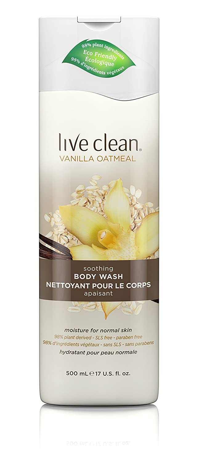Live Clean Vanilla Oatmeal Body Wash, 500-Milliliter