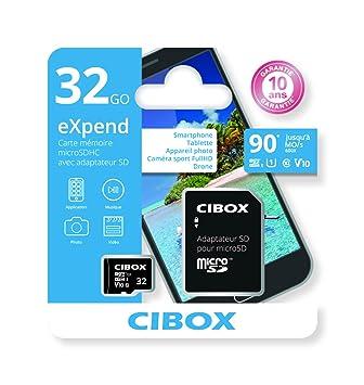Cibox eXpend 32 GB Tarjeta de memoria Micro-SD con adaptador ...