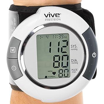 Electronic Blood Pressure Cuff >> Amazon Com Vive Precision Blood Pressure Cuff Wrist Automatic Bpm