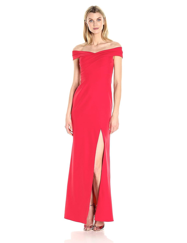 Red Aidan Mattox Womens Off Shoulder Gown Dress