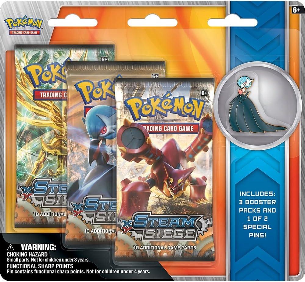 Pokemon Volcanion & Gardevoir Collectors Pins 3 pack - English: Amazon.es: Juguetes y juegos