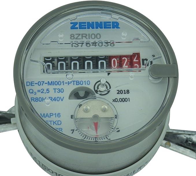 longitud total 130 mm Zenner 146628 Contador de agua ETKD para agua fr/ía