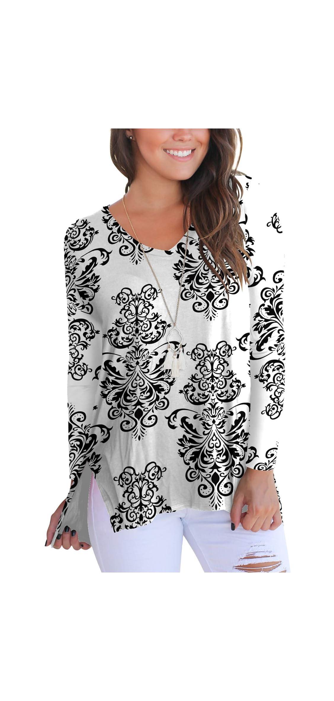 Womens Short Sleeve Floral Print V-neck T-shirt Tops