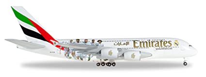Amazon.com: Herpa Wings 529242 Emirates Airbus A380