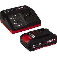 Einhell 4512040 Kit con Cargador batería de Repuesto de 18 V, 2, 0 W, 21 V, Negro, Rojo, 2.0 Ah, duración de carga: 30…